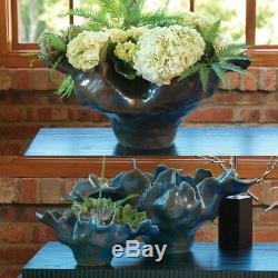 13 Meteor Bowl Blue Small Ceramic Original Artisan Free Form