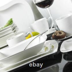 30pc Complete Dinner Set Porcelain Ceramic Plates Kitchen Dinning Service Sets