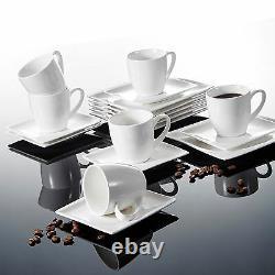 30pcs Dinner Set Porcelain Tableware Crockery Dining Set for 6 Plates Bowls Cups
