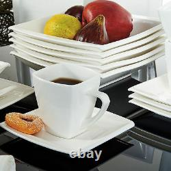 32pc Complete Dinner Set Ceramic Plates Cups Saucers Kitchen Dinning Service Set