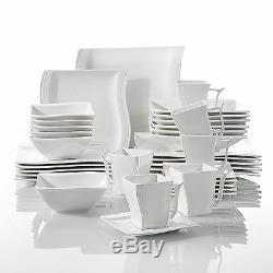36PC Complete Dinner Set Plates Bowls Cups Ceramic Dinnerware Kitchen Dining Set