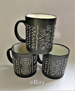 3 x HABITAT SCRAFFITO JAPAN Mugs