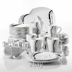 40-Piece Dinner Set Dinnerware Crockery Serving Dining for 8 Plates Bowls Mugs
