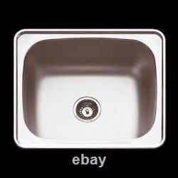 Abey Lodden PR45 NTH Laundry Trough SINK 45L single BOWL Inset Mount TUB 600x500