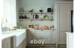 Abode Ceramic Deep Large Double Bowl Kitchen Undermount Sink White Waste 2 Bowl