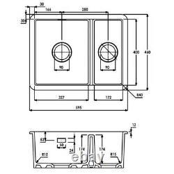 Abode Sandon 1.5 Bowl Undermount Kitchen Sink RRP. £297