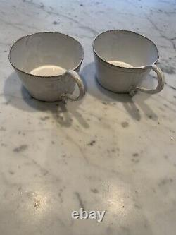 Astier De Villatte 2x Large Coffee Hot Chocolate Cup Mug Soup Bowl Used French