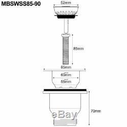 Astini Belgrave 760 1.0 Bowl White Ceramic Kitchen Sink & Copper Waste