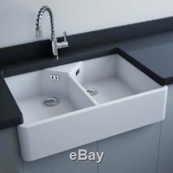 Astini Buckingham Belfast 900 2.0 Bowl White Ceramic Kitchen Sink & Waste
