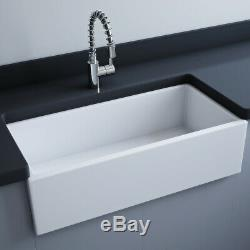 Astini Fareham 915 1.0 Bowl White Ceramic Belfast Kitchen Sink & Waste