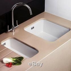Astini Hampton 100 1.0 Bowl White Ceramic Undermount/Inset Kitchen Sink