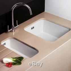 Astini Hampton 100 1.0 Bowl White Ceramic Undermount/Inset Kitchen Sink & Waste