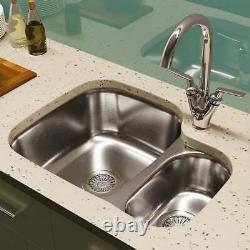 Astini Renzo 1.5 Bowl Stainless Steel Kitchen Sink, Waste & Saturn Tap RHSB