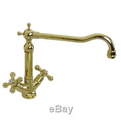 Astini Rustique 100 1.0 Bowl White Ceramic Kitchen Sink & Gold Waste