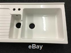 Astracast Je15whhomeskl Allia Paris Jersey Sink In Ceramic 120cm Wide 1.5 Bowl