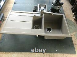 BLANCO kitchen sink, one & half bowls with mixer tap & waste disposal unit