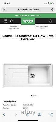 BNIB Blanco Monroe 500x1000 1 Bowl Ceramic Sink £249