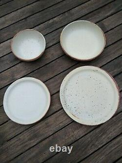 Barnaby, 36 piece, plates, bowls, stoneware French country style Speckled glaze