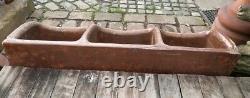 Beautiful Antique Pig Trough Heavy Salt Glazed Ceramic Brown Agriculture #S26