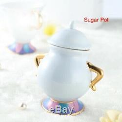 Beauty and the Beast Tea Cup Set Mrs Potts Teapot Sugar Bowl Pot gifts Au usa
