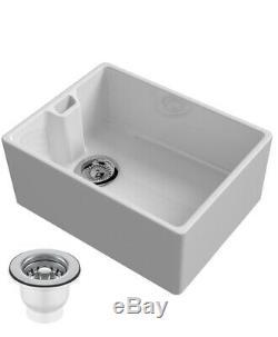 Belfast Sink Reginox 600mm 1.0 Bowl Ceramic Sink & Waste kit