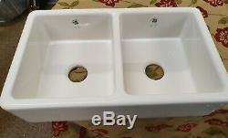 Belfast sink 2 Bowl Kempton by Caple Ex Display Excellent Condition