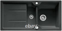 Blanco Idessa 6s Ceramic Inset Sink 1.5 Bowl Black Rrp. £474
