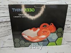 Brand New Huge Thinkgeek Octopus Sculpted Ceramic Serving Bowl Tiki 14