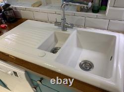 Butler & Rose 1000 Gourmet 1.5 Bowl White Ceramic Kitchen Sink