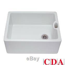 CDA Belfast 1.0 Bowl White Ceramic Kitchen Sink