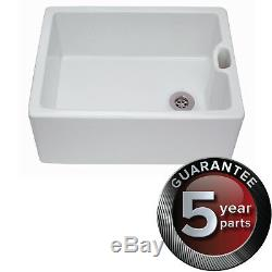 CDA Belfast 1.0 Bowl White Ceramic Kitchen Sink KC10WH Ceramic Belfast sink