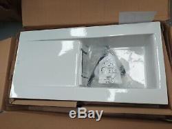 Cda Ceramic 1.0 Bowl White Ceramic Reversible Kitchen Sink & Waste KC73WH