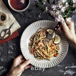Ceramic Japanese Tableware Set Dishes Plates Bowls Retro Vintage Dinnerware Sets