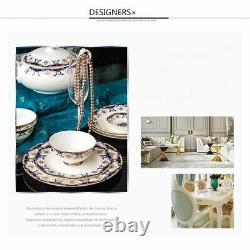 Ceramic Tableware Set Plates Round Dishes Rice Soup Food Dinner Deep Plate Bowls