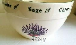 Certified International Mixing Bowls Vintage Retro Set 3 Serving Ceramic L M S