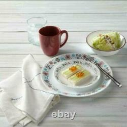 Corelle 32-Piece Glass Nordic Bloom Dinnerware Set Service for 8 / FREE SHIPPING