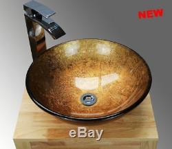 Countertop Basin Sink Modern Glass Ceramic Bowl Bathroom Cloakroom Centrepiece