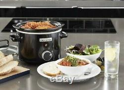 Crock-Pot Slow Cooker, Removable Easy-Clean Ceramic Bowl 2.4L Tempered Glass LiD