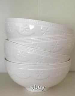 DESIGNER, s 4 x 750ml Porcelain Cereal Breakfast Rice Regular Bowls. COLOR WHITE
