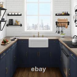 Delice Farmhouse Kitchen Sink Ceramic Composite 24 In. X 18 In. Single Bowl In W