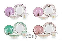 Disney Themed 16 Piece Ceramic Dinnerware Set COLLECTION II Plates Bowls Mugs