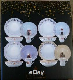 Disney Themed 16 Piece Ceramic Dinnerware Set Plates Bowls Mugs Think Geek