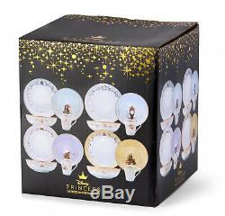 Disney Themed Dinnerware Set Ceramic Plates Bowls Mugs Collectible 16-Piece New
