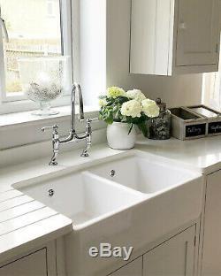 Double bowl 800 belfast bulter sink