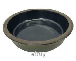 Edith Heath Ceramics Onyx/Olive Deep Serving Bowl Vintage Rim Rare Sausolito