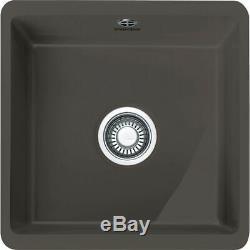 Franke 126.0330.601 KBK110 40 GR Kubus Single Bowl Ceramic Sink Graphite HA3554