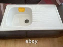 Franke Elba 1.0 Bowl Ceramic White Kitchen Sink ELK611