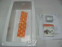 Franke Galassia GAK110 17 Ceramic White 0.5 Bowl Undermount Kitchen Sink