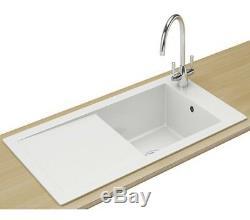 Franke V&B Aspen ANK 611 Ceramic White 1.0 Bowl Kitchen Inset Sink 124.0318.857