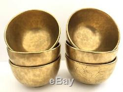 French Gold-Plated Molins, Charolles Bowls, Set Of 6